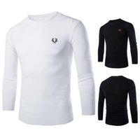 Wholesale Sweater Round Neck - spring and autumn Brand men's casual round neck sweater Jumper Men's sweaters Black Sweater Wheat embroidered sweater sudaderas