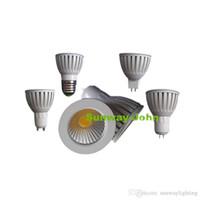 Wholesale Die Casting Led - GU10 GU5.3 MR16 E27 COB LED Bulbs Light Dimmable Led 9W 12W 15W Die-cast Aluminum Spot lights 110v 220v 12v