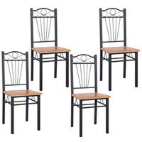Wholesale Steel Framed Furniture - SALES 4PCS Steel Frame Dining Chairs Kitchen Modern Furniture Bistro Home Wood