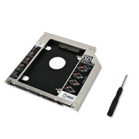 "Wholesale 2nd Hard Drive Caddy Macbook - Wholesale- New 9.5mm SATA 2nd HDD SSD 2.5"" Hard Drive Caddy Adapter For MacBook Pro Unibody A1278 A1286 A1297 CD ROM Optical Bay"