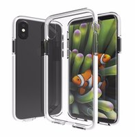 Wholesale Two Phones One Case - NEW case for i8 iphone x TPU+TPE anti-crash two-in-one phone protection shell for i8 iphone x protection shell Fundas caps wholesale case