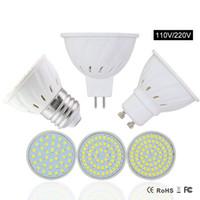Wholesale 6w Led Mr16 Bulb - GU10 LED Spotlight Lamp MR16 E27 Led Bulb GU10 110V 8W 6W 4W Spotlights Lampada Leds GU 5.3 Spot light For Lighting