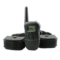 Wholesale two dog shock collar - Electric Shock Dog Training Collar with Beep Vibration Shock for 2dogs PET998D-2
