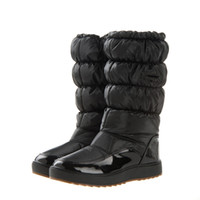 Wholesale Global Rubber - Wholesale- Global Hot Sale 10,0000 Pairs Winter Snow Boots New 2016 Brand Waterproof Shoes Woman,Platform Boots Plush Big Plus Size 41