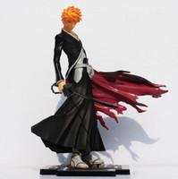 ingrosso giocattoli ichigo-Figure di alta qualità 20cm anime Bleach Kurosaki Ichigo PVC giocattolo Grande regalo per i bambini