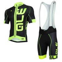 Wholesale Fluorescent Jerseys - 2017 new quick dry   breathable ALE Cycling Jerseys riding a bike jersey summer jersey mtb ALE bike fluorescent yellow Cycling Jerseys