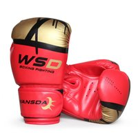 Sac de qualité moyenne Punch Training Femmes Men Gants de boxe Karate Muay Thai Boxeo MMA Taekwondo Fitness Fighting Glove