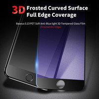 Wholesale Edge Filter - 3D Cured Matte Tempered Glass Screen Protector Full Cover Frosted Anti-Fingerprint Blue Light Filter Film for iPhone 6G 7 plus Soft Edge