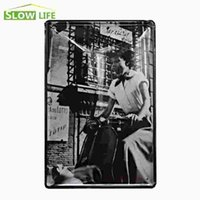 """Wholesale Roman Posters - Audrey Hepburn In Roman Holiday Vintage Home Decor Tin Sign 8""""x12"""" Cafe Pub Garage Wall Decorative Metal Sign Metal Poster 20170408#"""