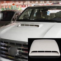 Wholesale Universal Hood Vent Scoop - NEW Car Decorative Air Flow Intake Hood Scoop Vent Bonnet Cover White Universal