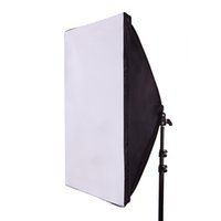 Wholesale Softbox Lamp - Wholesale- 50*70CM Photography Studio Wired Softbox Lamp Holder with E27 Socket for Studio Continuous Lighting With Carry bag