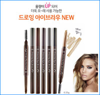 Wholesale Pencils Draw - Etude House Triangular shape Drawing EyeBrow Pencil 7 color Long -lasting Natural Eyebrow Pencil Brush Enhancers eye makeup cosmetics Bea452