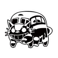 ingrosso auto del gatto dell'autoadesivo-Nuovo Stile Car Styling Per Ghibli Totoro Catbus Decalcomania Del Vinile Cat Bus Nekobus Jdm Vinile Auto Finestra Adesivo Accessori Decorare