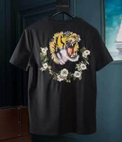 Stagione Vendita Tiger Stampa Italia Uomo T-Shirt Leisure T-shirt Cotone Hip Hop Skateboard Polo Casual T-Shirt Dance Sport T-Shirt Top