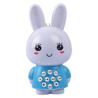 2017 Toy For Mini White Rabbit Multi - Funzionale Story Machine Light Music Bambini Early Education Toys Learning Machine Toy