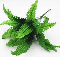 Wholesale Shape Leave - Wedding decorations green silk fern leaves foliage simulation plants Persian grass