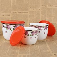 Wholesale Ceramic Seal - Fresh bowl Portable Lunch Box Microwave bowl 3 piece set of refrigerator fresh bowl sealed box Ceramic tableware