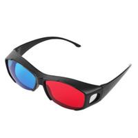 3d film çerçeveleri toptan satış-Toptan-Evrensel Tip 3D Gözlük TV Movie Boyutlu Anaglyph Video Çerçeve Gözlük DVD Oyun Anaglyph 3D Plastik Gözlük Ucuz Ve Sıcak