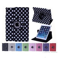 Wholesale Ipad Mini Case Dots - Drop Shipping Dots Rotating Stand Leather Case For iPad Mini 1 2 3 Retina Air 4 5 Smart Sleep Wakeup PU Cover
