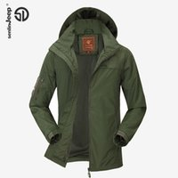 Wholesale Spring Jacket Men Autumn Fashion Hooded Jackets Light Parkas Jacket Badge Waterproof Thin Leisure Plus Size Casual Brand XL