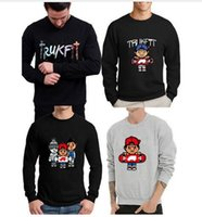 Wholesale Trukfit Shipping - new trukfit sweatshirt pullover men long sleeve t shirt hot sale cotton free shipping hip hop hoodie man hip-hop fleece crew neck