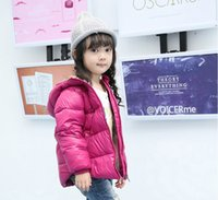 Wholesale Coat Warm Outwears Kids - Kids Winter Jacket Solid Colour Casual Children's Hooded Warm Outwear Five Colours 1 2 3 4 5 6 Years Girls Boys Clothes Baby Coat