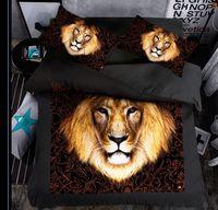 Wholesale Lion Print Comforter Sets - special lion New Design Bedding set 1 PC Bed sheet 1PC Comforter Cover 2 PCS Pillow Covers Comfortable Fashion