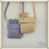 Wholesale Wholesale Messenger Bag Purses - Korean Children Bags New Cartoon Bunny Girls Messenger Bag Cute Rabbit Kids Mini Single-shoulder Bags C1800