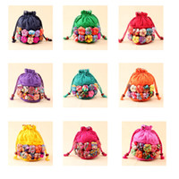 Wholesale Women S Fabric Handbags - Yunnan ethnic style women 's style cartoon cloth pumpkin Messenger bag shoulder bag handbags cartoon bag
