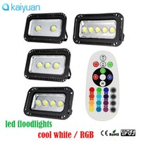 Wholesale Project Led Lighting - 2017 Outdoor LED Flood light 200W 300W 400W 500W 600w RGB   Warm   Cool Whit project Floodlights Waterproof Outside lamp lighting 85-265v