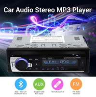 Wholesale Voice Controlled Car - Bluetooth V2.0 Car Radio Stereo Audio MP3 Player 12V In-dash Single 1 Din FM Receiver Aux Receiver USB SD Remote Control