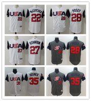 Wholesale Men Shirts Low Prices - 2017 World Series 27 STANTON Baseball Jerseys ,USA MEN Cool Base 28 POSEY baseball shirT TOPS,Low Price 22 MCCUTCHEN 35 HOSMER Baseball wear