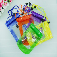 Wholesale purple camera case - Clear Waterproof Pouch Bag Dry Case Cover For All Cell Phone Camera Mobile phone waterproof bag