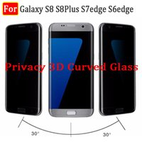 Wholesale Privacy Screen Matte - s8 privacy 3d curved tempered glass screen protector for samsung galaxy s8 s8 plus s7 edge s6 edge s7edge anti-spy 3d curved glass