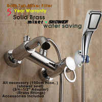 Wholesale Copper Shower Faucets Controls - Bathroom Mixer Bath Tub Copper Mixing Control Valve Wall Mounted Shower Faucet concealed faucet 20161103#