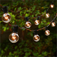 Wholesale led christmas lights online - Black M sockets m Lead Wire Globe G30 G40 G50 String Light Cables with Fuse Christmas Wedding Dancing garland Waterproof EU US PLUG