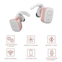 беспроводной наушник для ipad оптовых-Беспроводные TWS правда беспроводные наушники Bluetooth стерео Твин наушники в ухо Sweatproof шумоподавления наушники для iPhone iPad Samsang