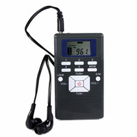 Wholesale Mini Clock Battery - Wholesale-Mini Portable DSP FM Radio Stereo Digital Clock Receiver for Meeting Simultaneous Interpretation Radio FM Y4305A