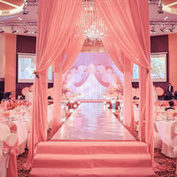 ingrosso tappeto specchiato-Nuovo arrivo 1M / 1.2M / 1.5M Wide Shine Silver Mirror Carpet Aisle Runner per romantiche bomboniere Decorazione del partito
