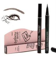 Wholesale Eyes Tattoo - Waterproof Brown 7 Days Eye Brow Eyebrow Tattoo Pen Liner Long Lasting Makeup Eyebrow Pencil Women Gifts