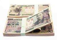 Wholesale Wholesaler Japan - 100PCS JAPAN JPY10000 TV Video Props Money Training Banknotes Home Decoration Souvenir Arts Crafts Gift Poker Game Chips Movie Props Money