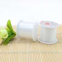 Wholesale Stretch Cord For Beading - 0.3mm,0.4mm,0.5mm Clear Cord for Necklace without Stretch Fishing Nylon Cord Fashion Beading ZYL0007