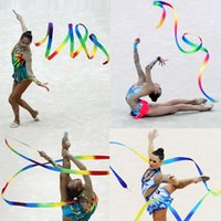 4M Kids Children Gym Dance Ribbon Gym Gymnastique rythmique Art Gymnastique Ballet Streamer Twirling Rod Kids Toy Muilticolor