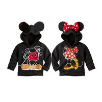 Wholesale Cute Baby Clothes For Boys - cute baby kid sweatshirt coat cartoon minnie mickey costume hoodie coat for 1-6yrs children little boys girls outerwear clothes