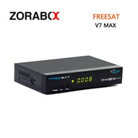 Wholesale Dvb Sharing - 10pcs Wholesale Dvb-S2 Freesat V7 Max Support USB WIFI USB PVR Ready Network Sharing Cccamd Newcamd Bisskey Powervu Youtube Youporn