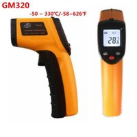 Wholesale GM320 Non Contact Digital Infrared Thermometer Pyrometer IR Laser Temperature Meter C Degree Electronic Point Gun