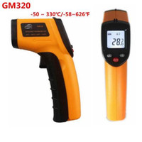 Wholesale Infrared Ir Laser - GM320 Non-Contact Digital Infrared Thermometer Pyrometer IR Laser Temperature Meter -50~330C Degree Electronic Point Gun