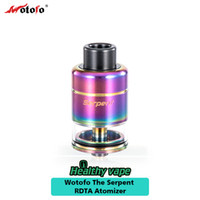 Wholesale Electronic Clamps - New Wotofo Serpent RDTA Tank 2.5ml Big Clamped Deck for Big Size Coil Electronic Cigarette Serpent RDTA Atomizer