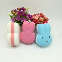 Wholesale Miffy Rabbit - Wholesale 50Pcs 12CM Jumbo Kawaii Squishy Miffy Rabbit Head Soft Cute Animal Slow Rising Bread Cake Sweet Scented Kid Toy Gift
