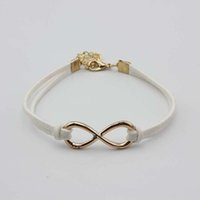 Wholesale infinity bracelets for sale - Group buy new chram bracelet colors infinity bracelets Fashion Hot Eight cross leather bangle bracelets jewelry for women top quality factory price